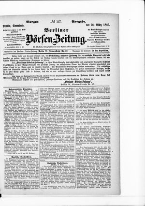 Berliner Börsen-Zeitung vom 28.03.1885