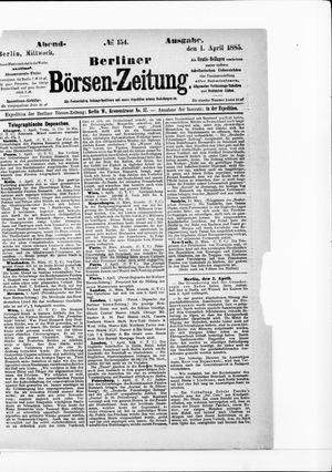 Berliner Börsen-Zeitung vom 01.04.1885