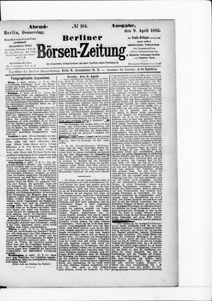 Berliner Börsen-Zeitung vom 09.04.1885