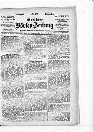 Berliner Börsen-Zeitung vom 11.04.1885