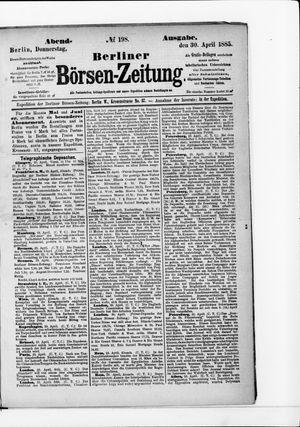 Berliner Börsen-Zeitung vom 30.04.1885