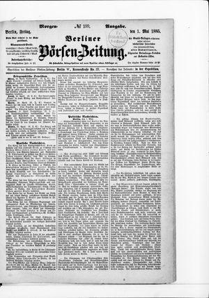 Berliner Börsen-Zeitung vom 01.05.1885