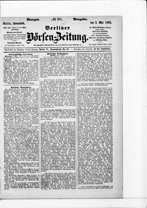 Berliner Börsen-Zeitung vom 02.05.1885