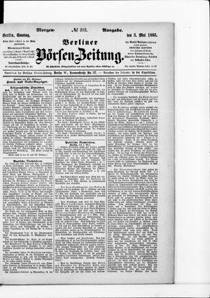 Berliner Börsen-Zeitung on May 3, 1885