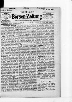 Berliner Börsen-Zeitung vom 04.05.1885