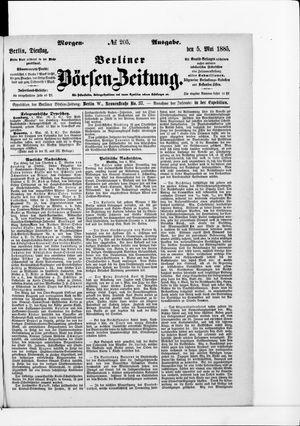 Berliner Börsen-Zeitung on May 5, 1885