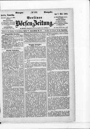 Berliner Börsen-Zeitung vom 07.05.1885