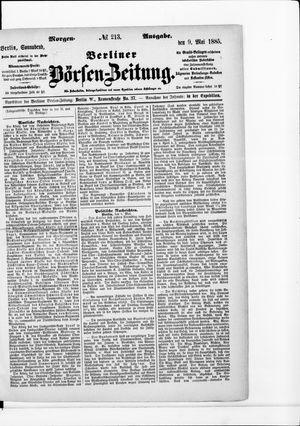 Berliner Börsen-Zeitung vom 09.05.1885