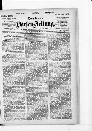 Berliner Börsen-Zeitung vom 10.05.1885