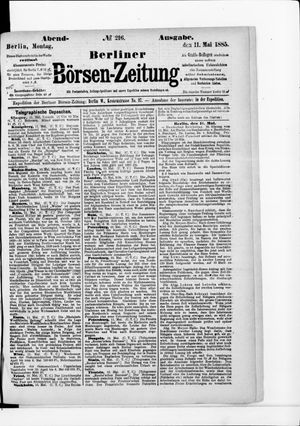 Berliner Börsen-Zeitung vom 11.05.1885