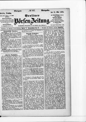 Berliner Börsen-Zeitung vom 12.05.1885