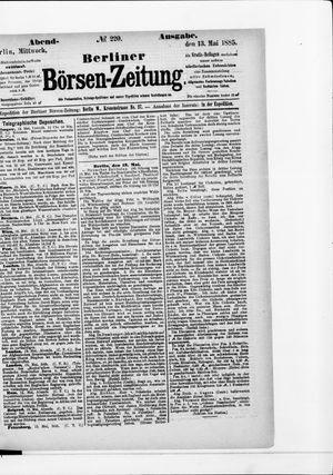 Berliner Börsen-Zeitung vom 13.05.1885