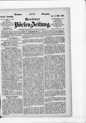Berliner Börsen-Zeitung vom 14.05.1885