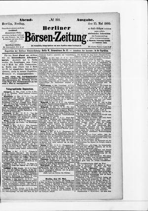 Berliner Börsen-Zeitung on May 15, 1885