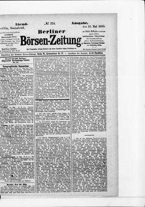 Berliner Börsen-Zeitung vom 16.05.1885