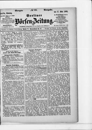 Berliner Börsen-Zeitung vom 17.05.1885