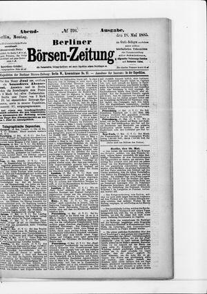 Berliner Börsen-Zeitung vom 18.05.1885