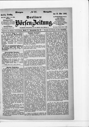 Berliner Börsen-Zeitung vom 19.05.1885