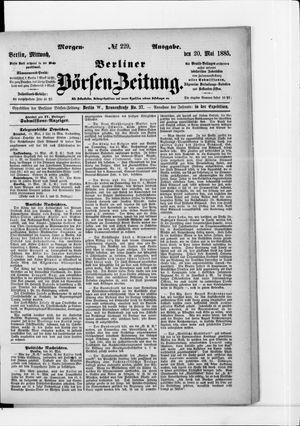 Berliner Börsen-Zeitung vom 20.05.1885