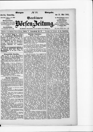 Berliner Börsen-Zeitung vom 21.05.1885