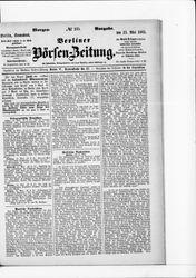Berliner Börsenzeitung (23.05.1885)