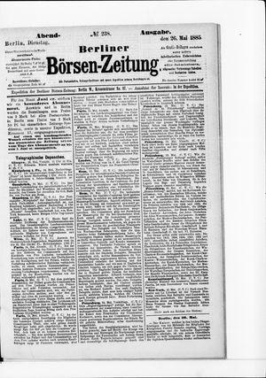 Berliner Börsen-Zeitung vom 26.05.1885