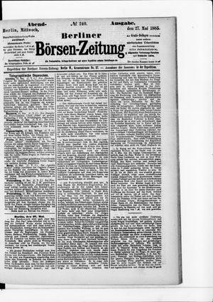 Berliner Börsen-Zeitung vom 27.05.1885