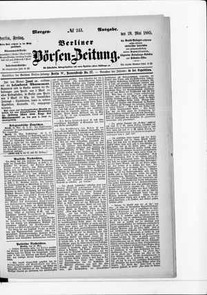 Berliner Börsen-Zeitung vom 29.05.1885