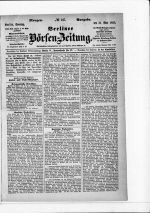 Berliner Börsen-Zeitung vom 31.05.1885