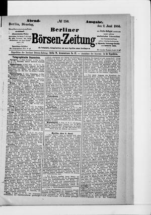 Berliner Börsen-Zeitung vom 02.06.1885