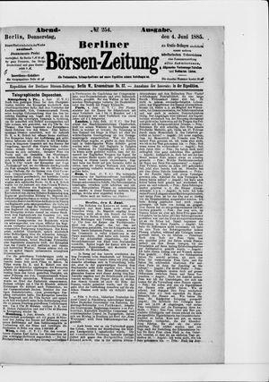 Berliner Börsen-Zeitung vom 04.06.1885