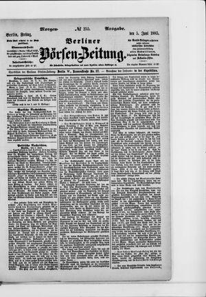 Berliner Börsen-Zeitung vom 05.06.1885