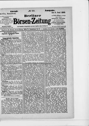 Berliner Börsen-Zeitung vom 06.06.1885