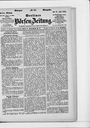Berliner Börsen-Zeitung vom 10.06.1885