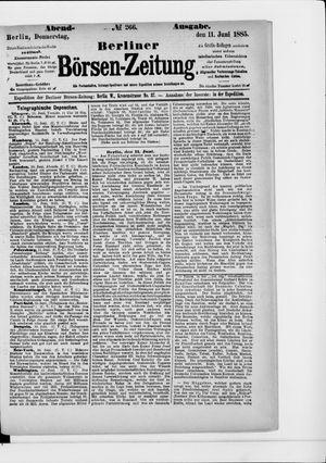 Berliner Börsen-Zeitung vom 11.06.1885