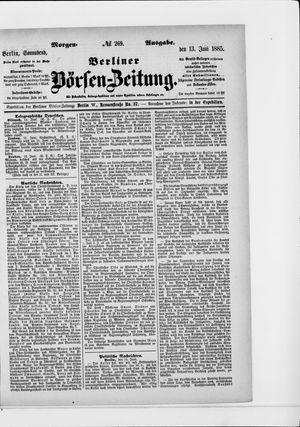 Berliner Börsen-Zeitung vom 13.06.1885