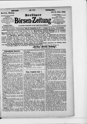 Berliner Börsen-Zeitung vom 15.06.1885