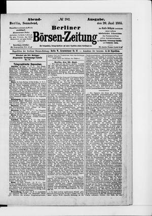 Berliner Börsen-Zeitung vom 20.06.1885