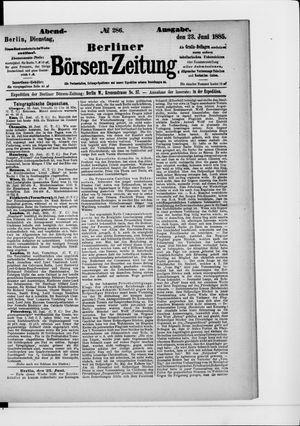 Berliner Börsen-Zeitung vom 23.06.1885