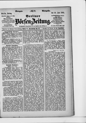 Berliner Börsen-Zeitung vom 26.06.1885