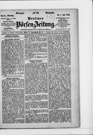 Berliner Börsen-Zeitung vom 01.07.1885