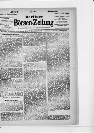 Berliner Börsen-Zeitung vom 02.07.1885