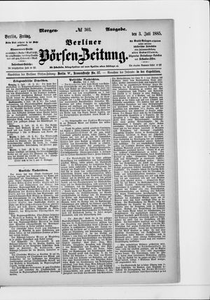 Berliner Börsen-Zeitung vom 03.07.1885