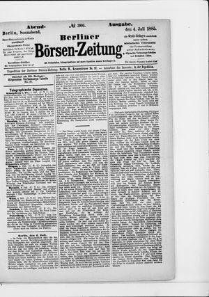 Berliner Börsen-Zeitung vom 04.07.1885