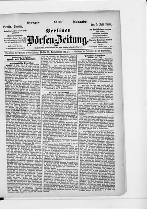 Berliner Börsen-Zeitung vom 05.07.1885