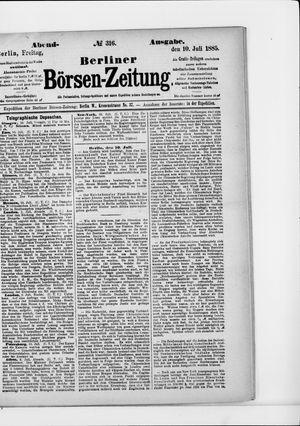 Berliner Börsen-Zeitung on Jul 10, 1885