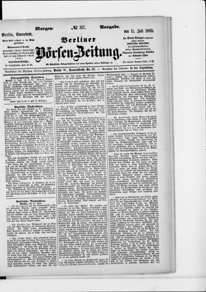 Berliner Börsen-Zeitung vom 11.07.1885