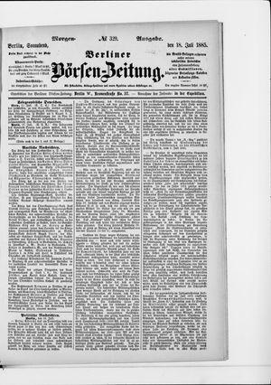 Berliner Börsen-Zeitung vom 18.07.1885