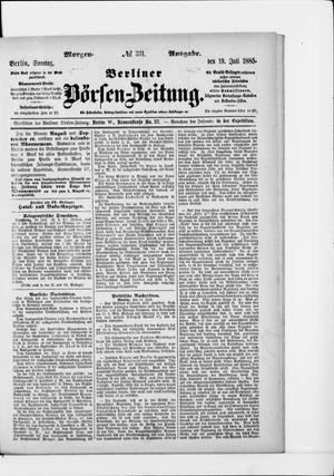 Berliner Börsen-Zeitung vom 19.07.1885