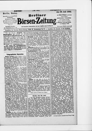 Berliner Börsen-Zeitung vom 20.07.1885
